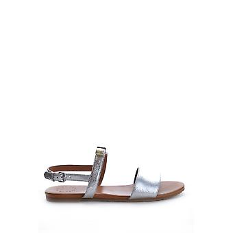 Marc By Marc Jacobs Silver Leather Sandals