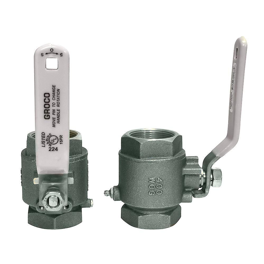 GROCO 1-1 2& 034; NPT Stainless Steel In-Line Ball Valve
