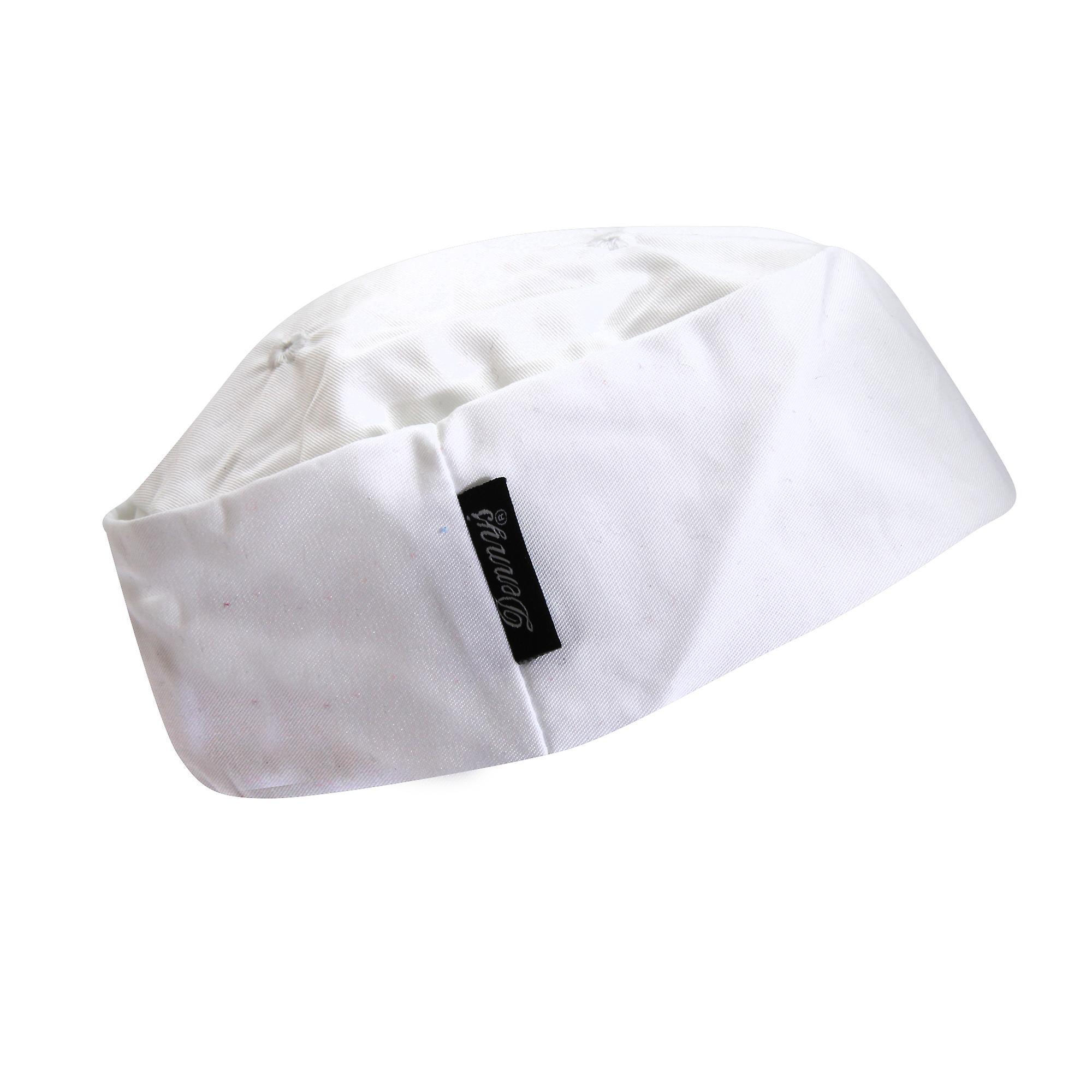 Dennys Ladies/Womens White Skull Cap / Chefswear Caps & Hats  (Pack of 2)