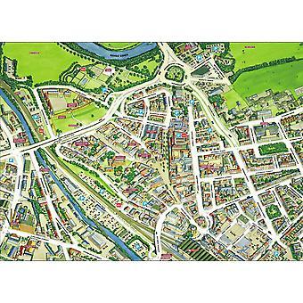Stadtbilder Stadtplan von Carlisle 400 Stück Puzzle 470 x 320 mm (Hpy)