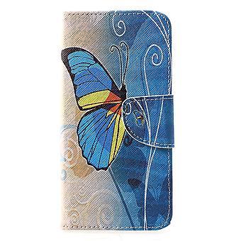 Huawei P30 Plånbokfodral - Blue Butterfly