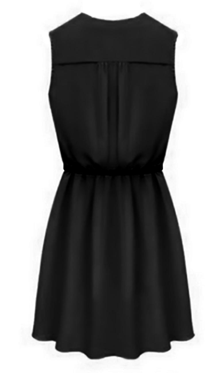 Sleeveless dress and style gown Scala