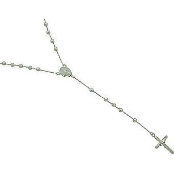 Toc Sterling Silver 24 Inch Beaded Rosary Necklet with Crucifix