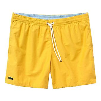 Lacoste Cotton Taffeta Swim Shorts, Yellow, X Large