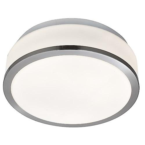 Searchlight 7039-23SS Bathroom Ceiling Light With Opal Glass And Satin Trim IP44