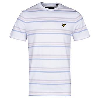 Lyle & Scott Multi Stripe White T-Shirt