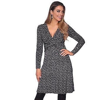 KRISP  Ruched Drape Stretch Front Twist Knot Shift Mini Dress Tie Belted Party Work