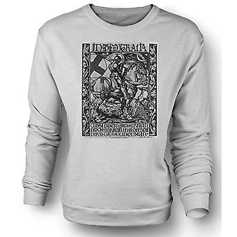 Womens Sweatshirt Knight In Armour - War Poster