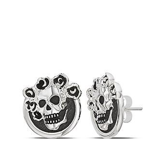 Grateful Dead Skull - Roses Stud Earrings