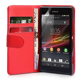 YouSave Zubehör Sony Xperia SP LeatherEffect Wallet RS rot