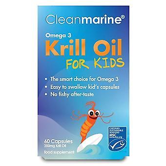 Cleanmarine krill olie voor kinderen 200mg Marine Gelcaps 60