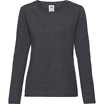 Fruit Of The Loom - Lady-Fit Ladies Valueweight Long Sleeve Tee T-Shirt