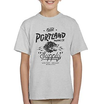 Divide & Conquer Portland Motor Co Kid's T-Shirt