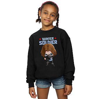 Marvel Girls Winter Soldier Bucky Toon Sweatshirt
