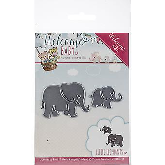Find It Trading Yvonne Creations Die-Little Elephants, Welcome Baby