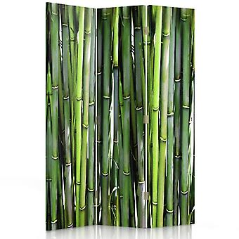 Room Divider, 3 Panels, Single-Sided, Canvas, Bamboo