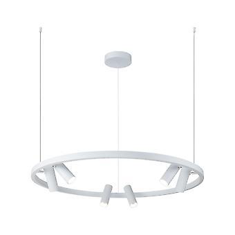 Maytoni Lighting Satellite White Designer Ceiling Pendant Round Light 6 Downlights 42W
