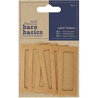 Papermania Bare Basics Label Holder 8/Pkg-  PM174314