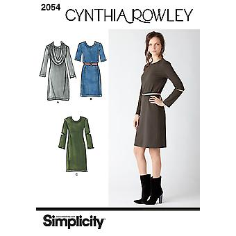 Simplicity Misses' Dresses. Cynthia Rowley Collection 6 8 10 12 14 Us2054h5