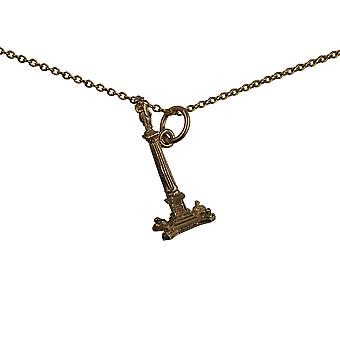 9ct Gold 23x10mm Nelson's Column Pendant with a cable Chain 16 inches Only Suitable for Children