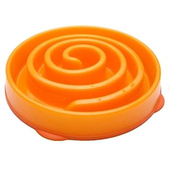 SLO-Schüssel Feeder Mini Koralle Spirale Orange 22 x 22 x 5 Cm