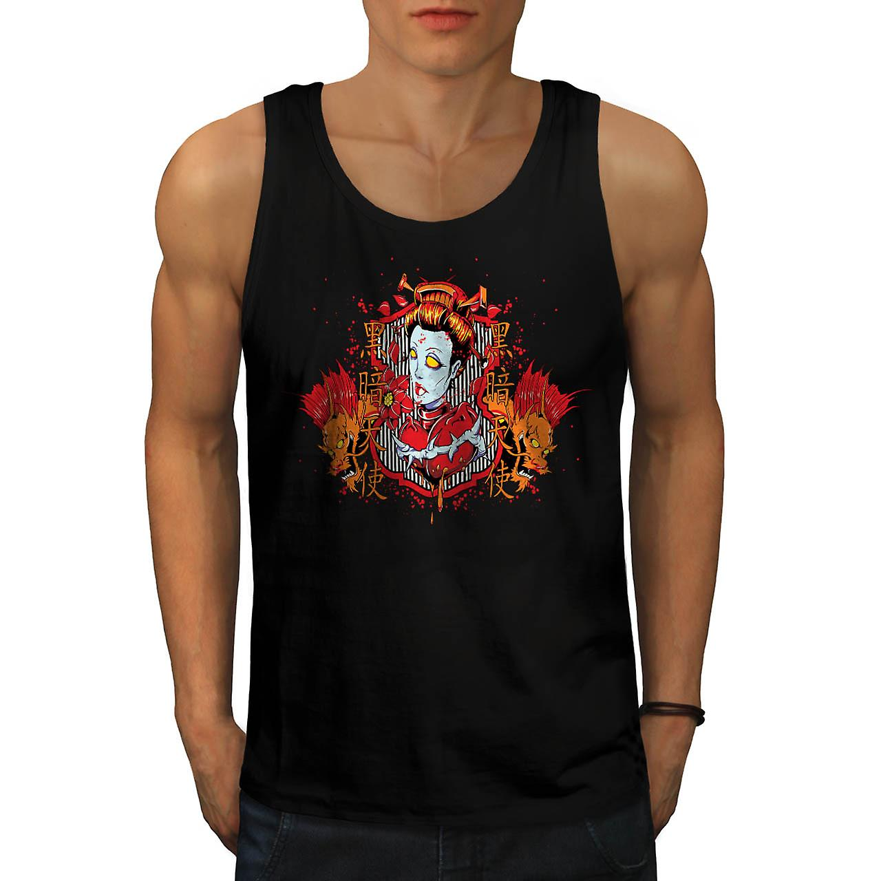 Dragon Monster Zombie Men Black Tank Top | Wellcoda