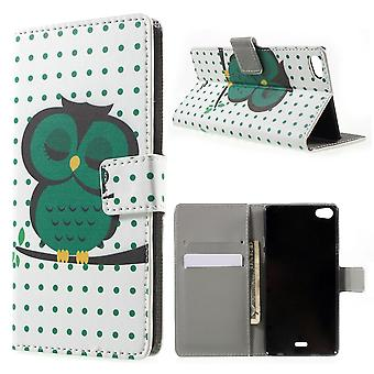 Cover Owl sleeping PU leather for Kiritkumar Highway Pure 4 g