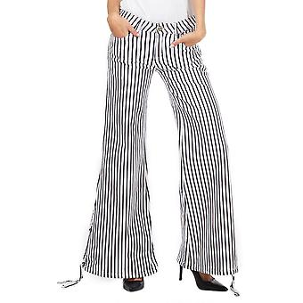 Black And White Wide Leg Flared Cotton Bell Bottom Cotton Flares
