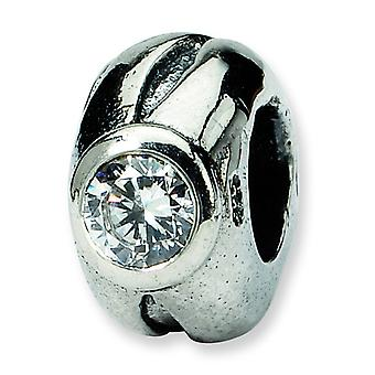 Sterling Silver Reflections SimStars CZ Bead Charm