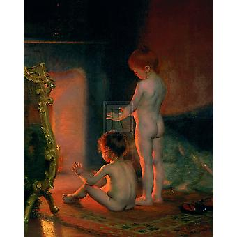 After The Bath 1890 Poster Print by Paul Peel (16 x 20)