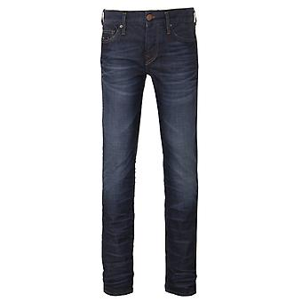 True Religion Rocco Worn Ranch Relaxed Skinny Denim Jeans