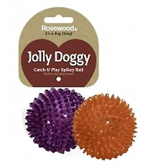 Jolly Doggy Catch & Play Spikey Ball 8cm (Pack of 3)