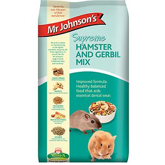 Mr Johnsons øverste Hamster & Gerbil blande 900g (pakke med 6)