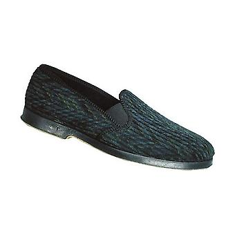 GBS Lonsdale Mens Twin Gusset Classic Slippers Textile Rubber Slip On Fastening