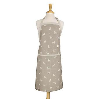 Dexam Happy Hounds Apron, Clay Beige