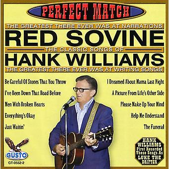 Red Sovine - Perfect Match-Songs of Hank Williams [CD] USA import