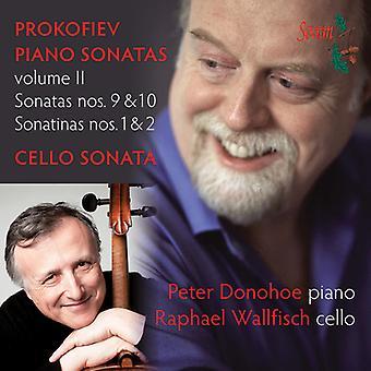 Prokofiev / Donohoe / Wallfisch - Klaversonater bind II [CD] USA import