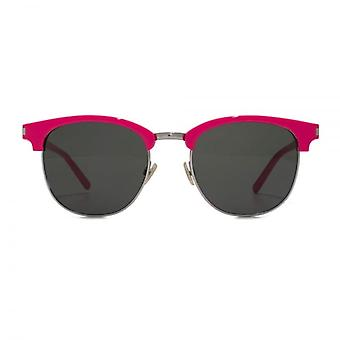 Saint Laurent SL 108 Surf Clubmaster Style Sunglasses In Pink
