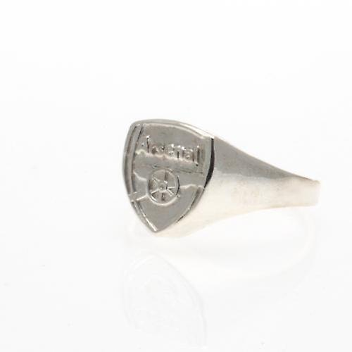 Arsenal Silver Plated Crest Ring Medium