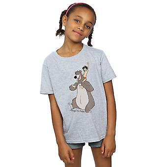 Disney Mädchen im Dschungel zu buchen, klassische Mowgli und Baloo T-Shirt