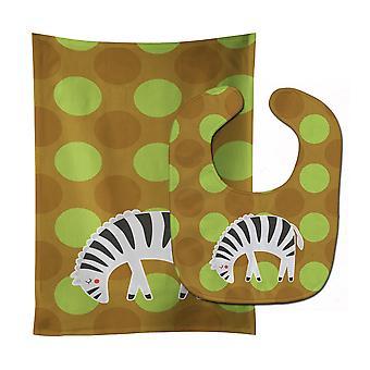 Carolines schatten BB6787STBU Zebra Baby Slabbetje & Burp doek