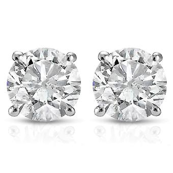 1 cttw Diamond Studs 14K White Gold