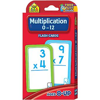 Flash Cards Multiplication 0 12 55 Pkg Szflc 4008