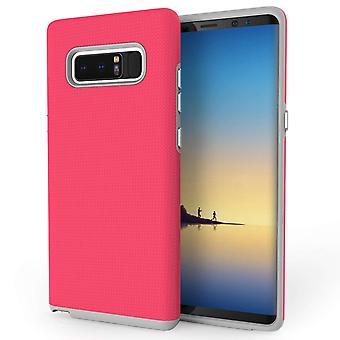 Samsung Galaxy Note 8 Textured Hybrid Case - Pink
