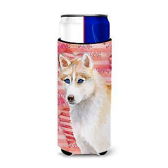 Siberian Husky Liebe Michelob Ultra Hugger für schlanke Dosen