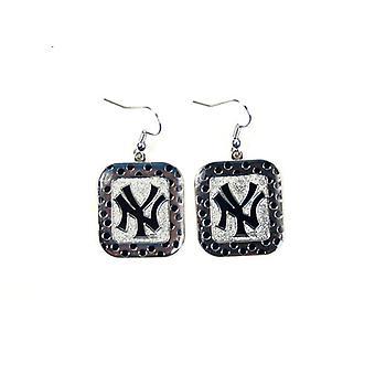 New York Yankees MLB Polka Dot Style Dangle Earrings
