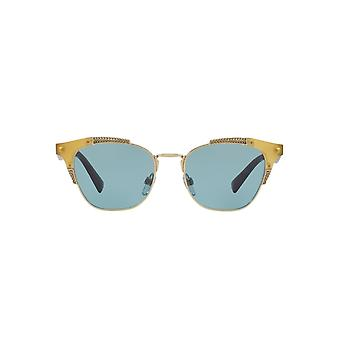 Valentino Metal Mix Butterfly Sunglasses In Opal Honey