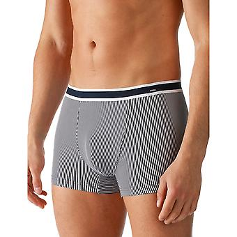 Mey 61621-668 Men's Single Blue Striped Fitted Boxer