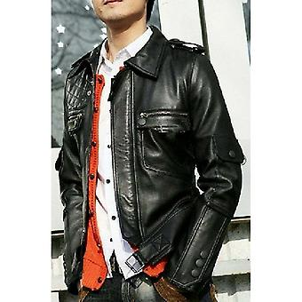 Gentleman's Black Corporate Leather Jacket