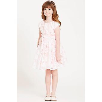 Little MisDress Pink Organza Bow Waist Dress